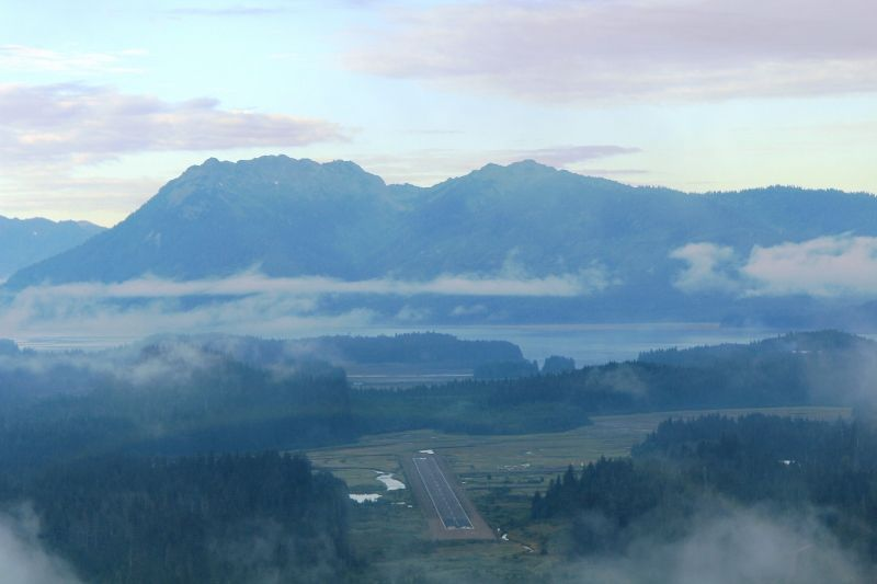 Vues aériennes de bon matin à Juneau  Alaska