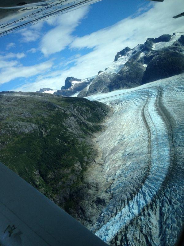 VOL au dessus des glaciers d'ALASKA -  Juneau