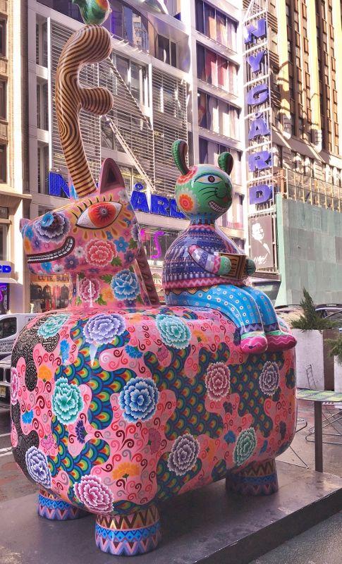 Exposition plein air à Broadway New York