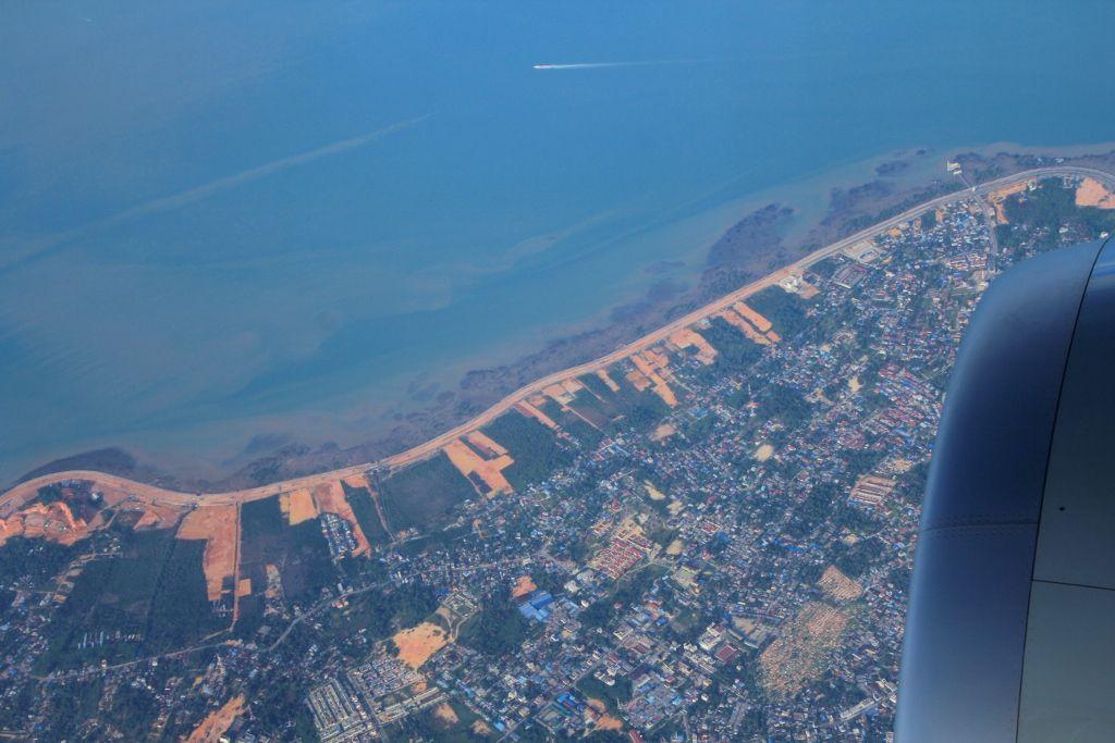 Vues aériennes Doha - Singapour
