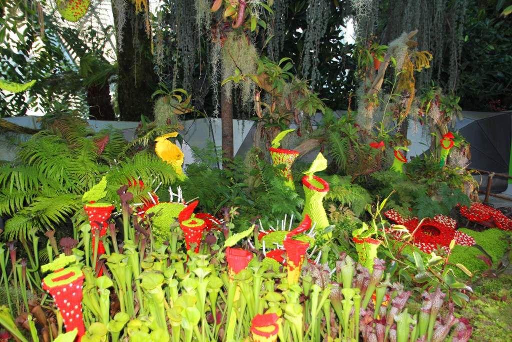 Fleurs en Lego Cloud forest Singapour