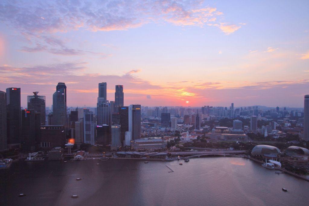 Vues côté Marina - Hôtel Marina Bay Sands Singapour