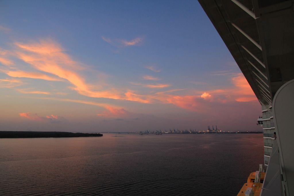 Couchers de soleil Singapour Malaisie Ovation of the seas