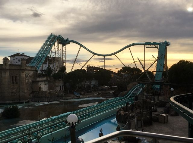 Europa park by night
