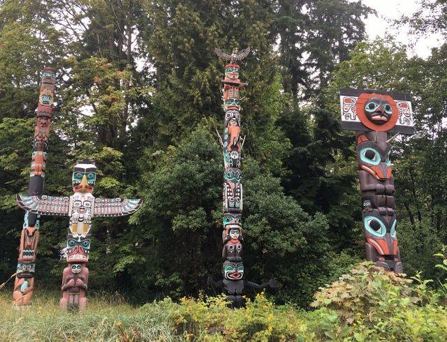 Totems de Vancouver Canada