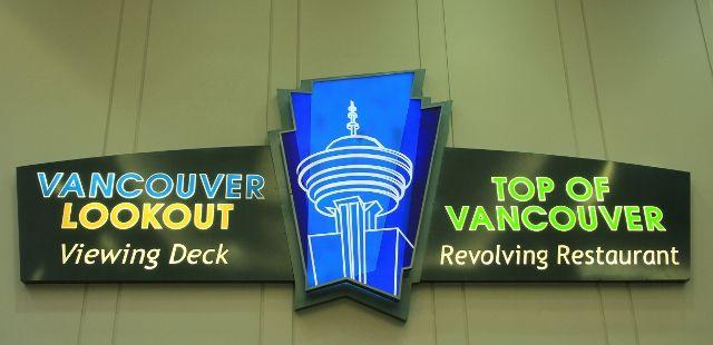 """Restaurant """" top of Vancouver """", vues à 360 degrés"""
