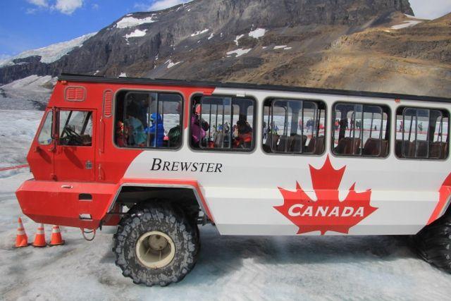 Les Champs de glace COLUMBIA dans les Rocheuses - Province Alberta - Canada