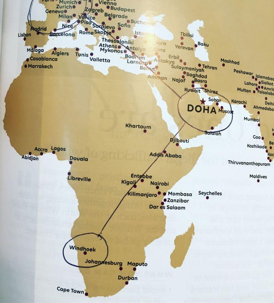 Vol Qatar Airways Paris - Doha