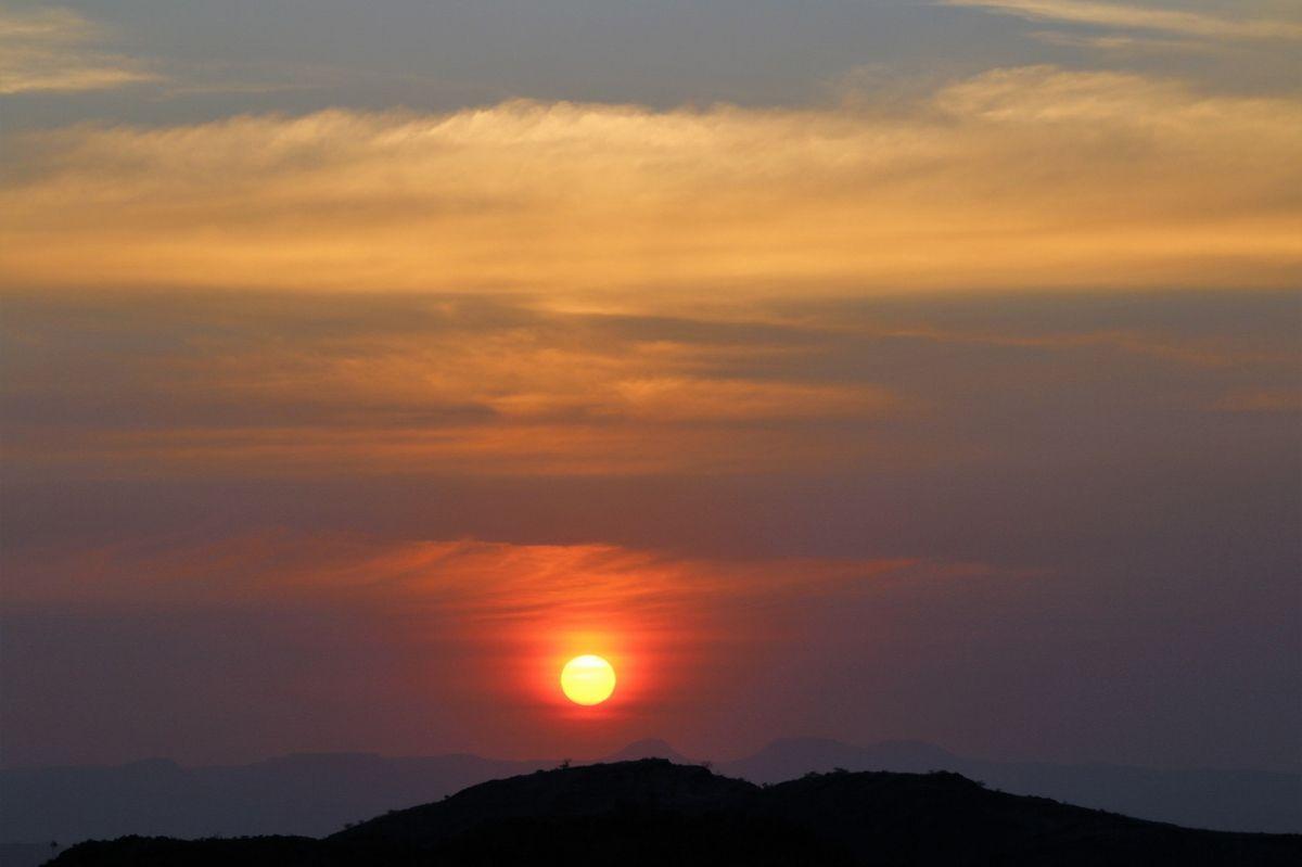 Couchers de soleil Damaraland Namibie