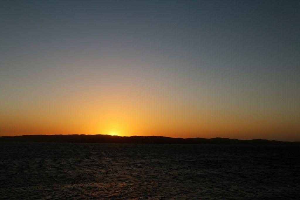Soleil sur l'Atlantique à Luderitz Namibie