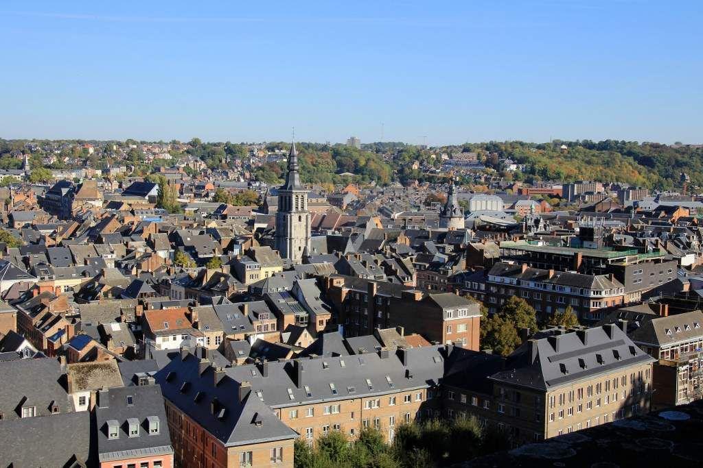 Namur vues en haut forteresse Belgique