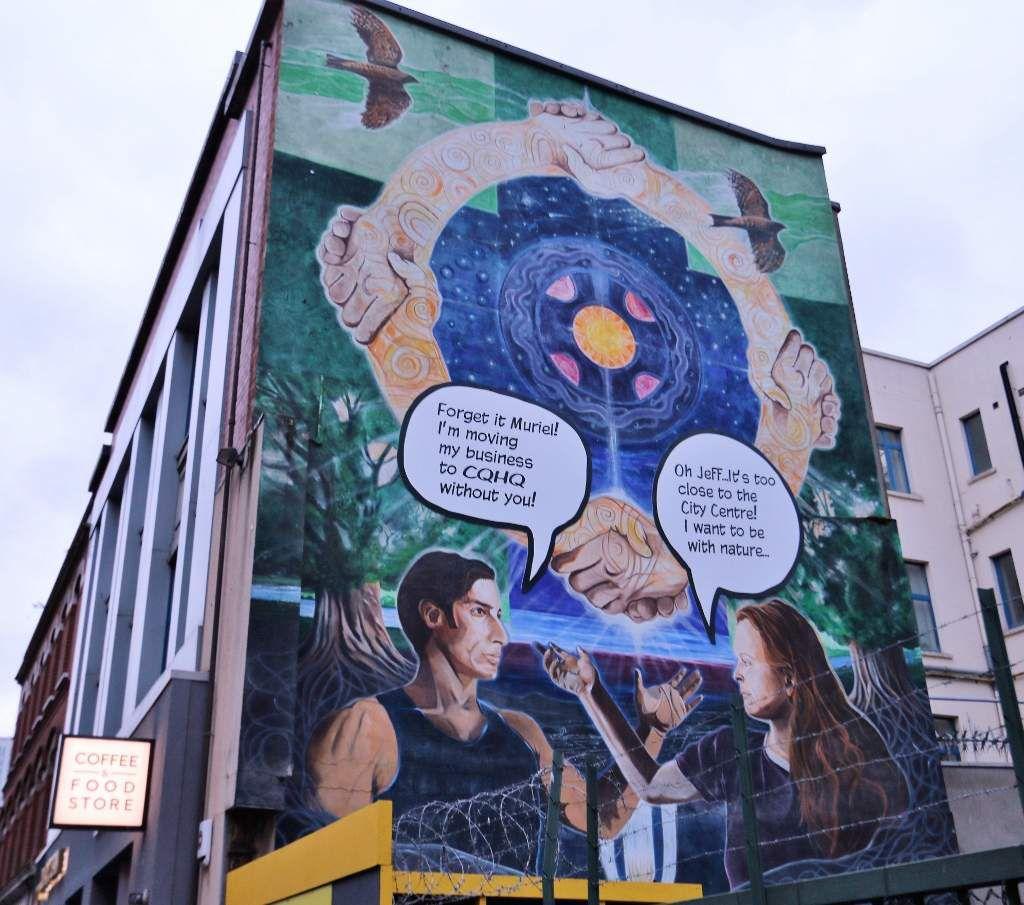 BELFAST Peintures murales politiques  Irlande du Nord