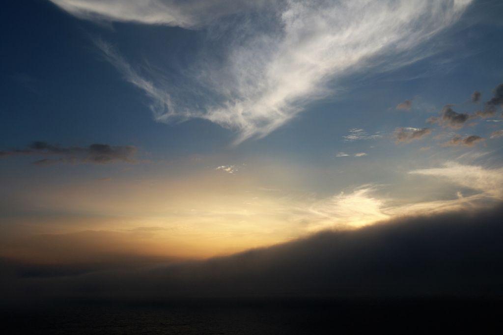 Couchers de soleil Ocean Pacifique Japon
