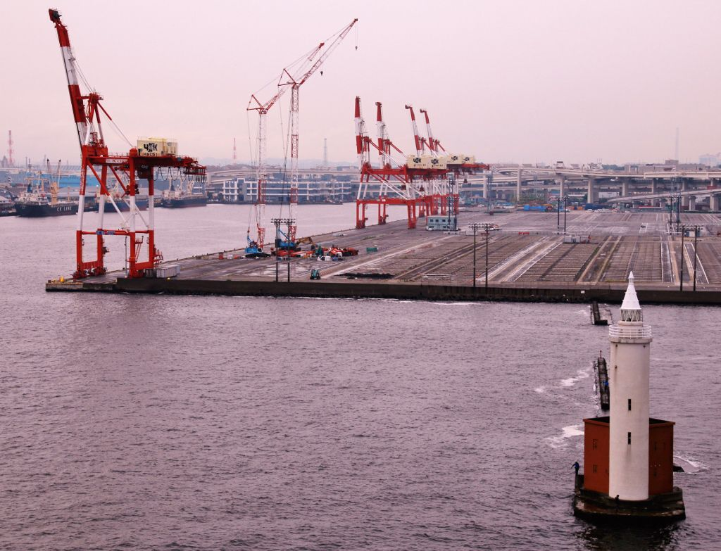 Port de Yokohama Japon