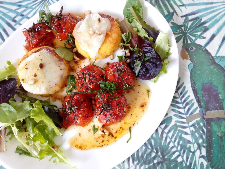 Polenta grillée au Pélardon & tomates confites 🍅