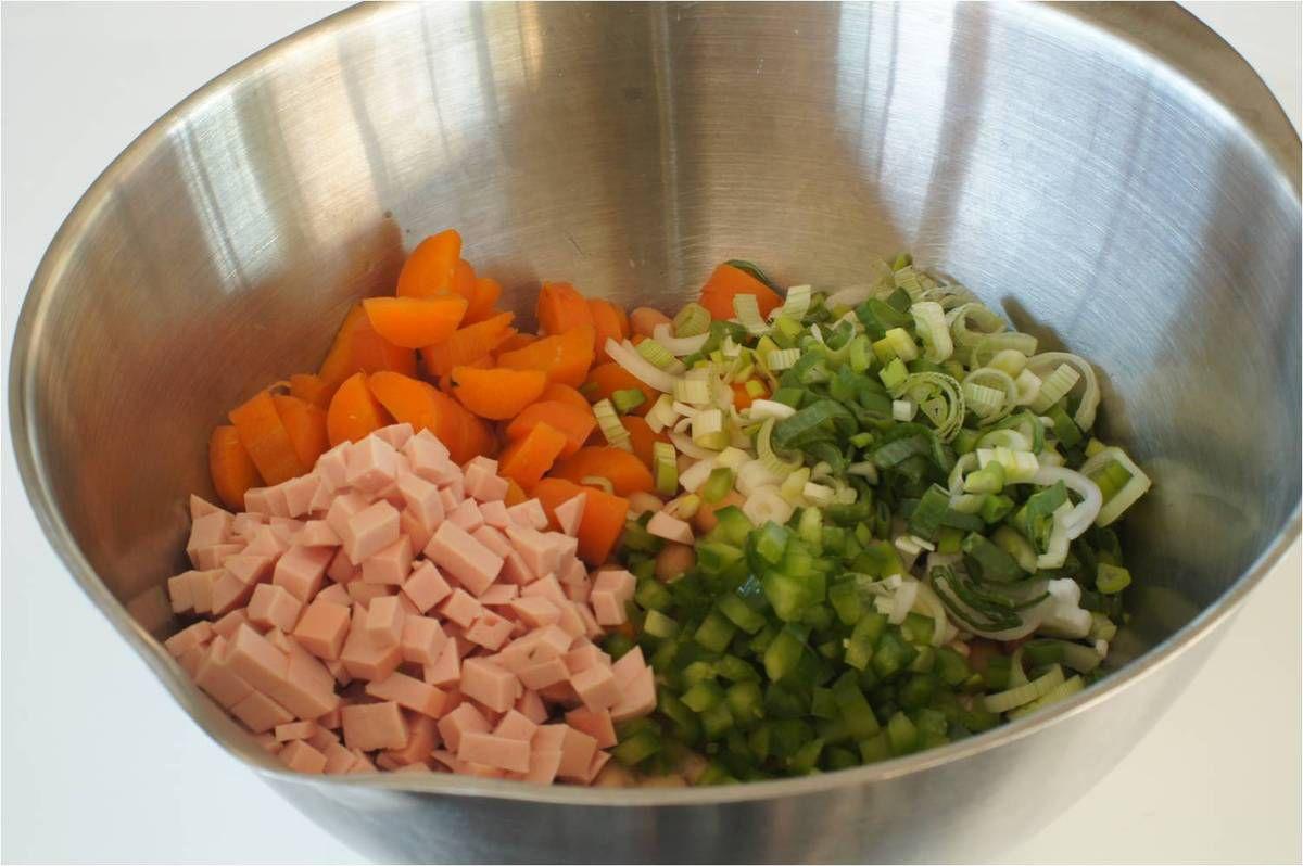 Salade de haricots blancs et cervelas