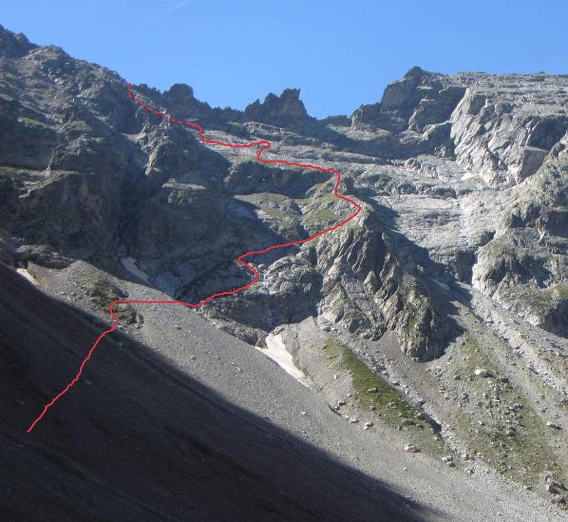 Le col de Turbat côté Font Turbat.
