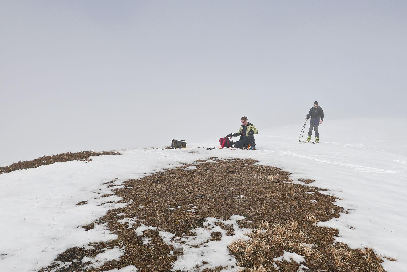 Sortie ski de rando mi février sur la Montagnette en sud Vercors.