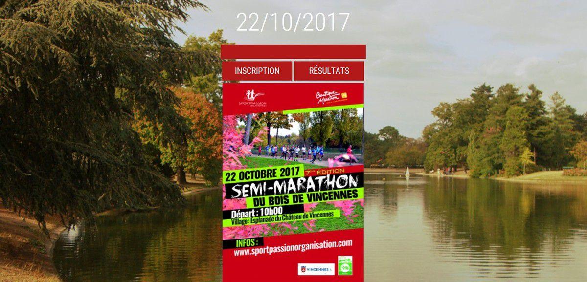 Semi-Marathon de Vincennes (et autres courses du Week-end)