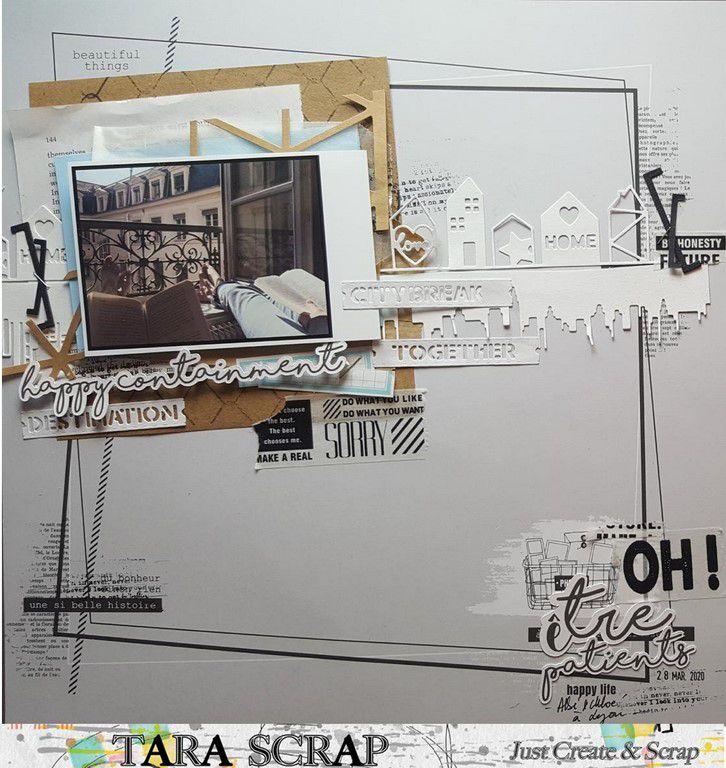 2 pages : Sketch #394 de JCS et Challenge sur Scrap&Co