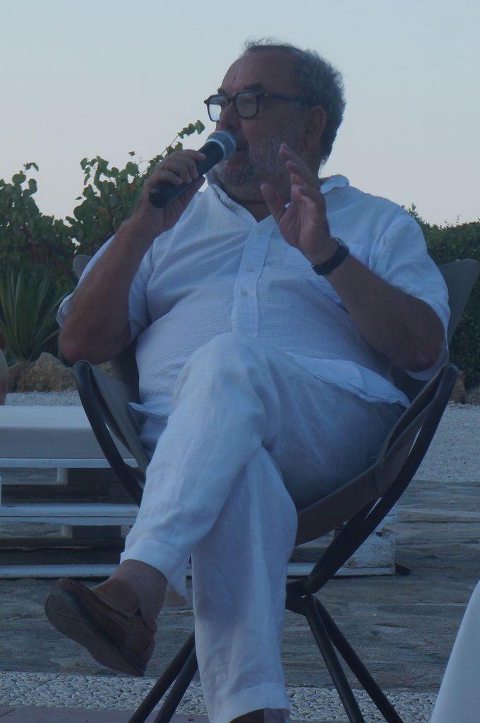 Enrico Deaglio a Scopello, il 29 luglio 2018 (foto di Maurizio Crispi)