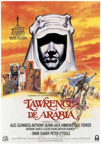 Lawrence d'Arabia locandina del film di David Lean