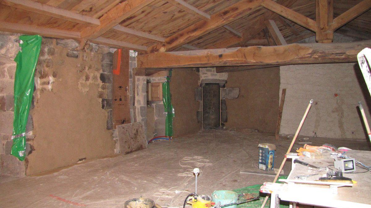 Les travaux réalisés pendant le stage, la fin du chantier du plancher haut