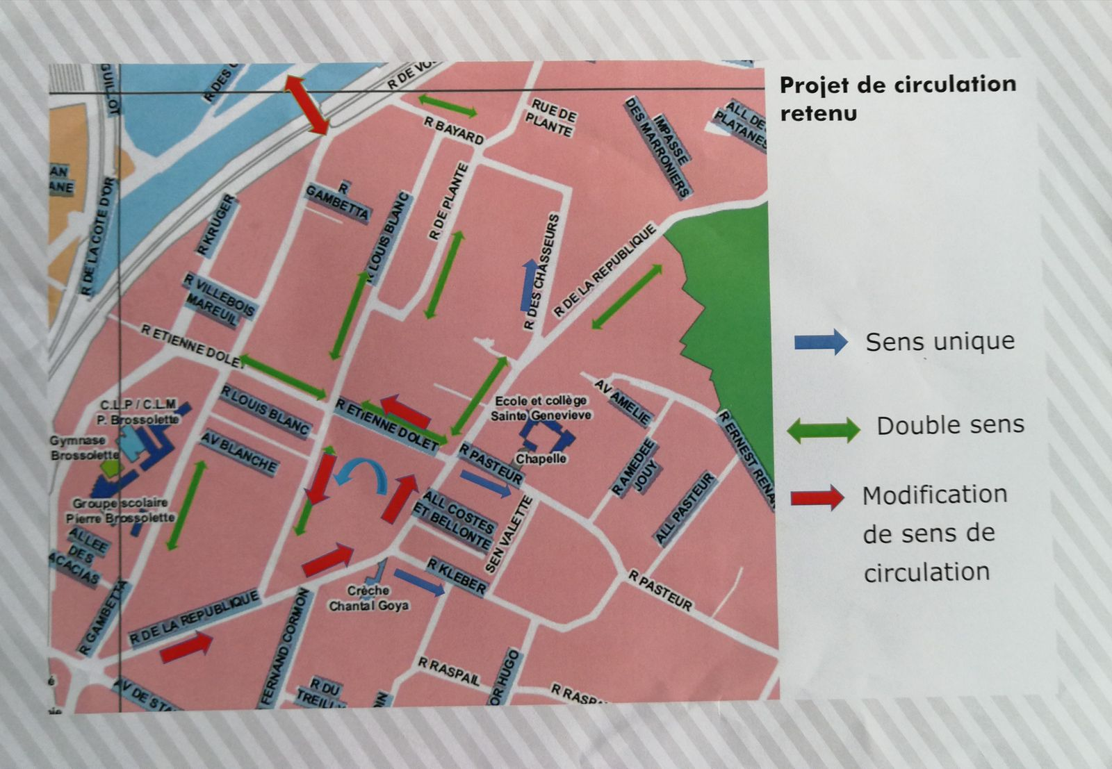 Plan de circulation retenu.