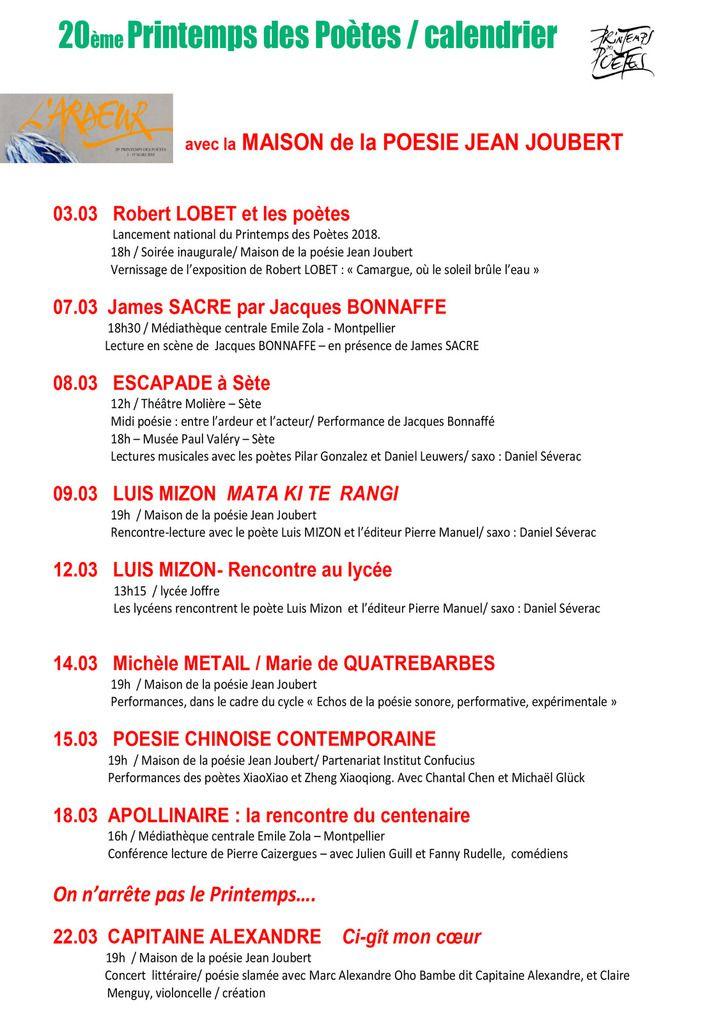 18 mars  APOLLINAIRE La rencontre du Centenaire