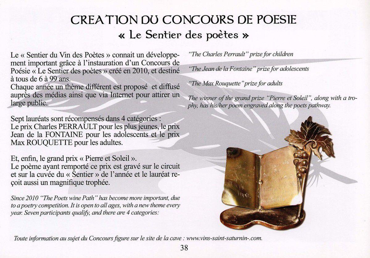 """Concours de poésie """"Le sentier des Poètes"""""""