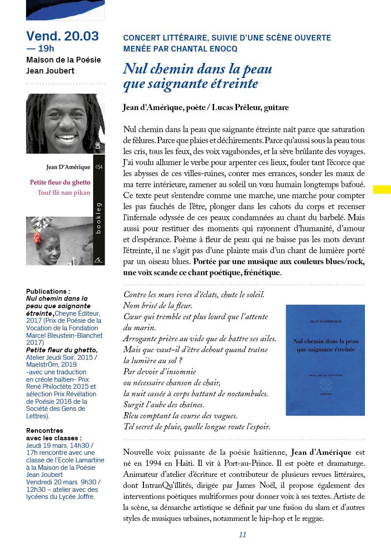 Programmation du Printemps des Poètes 2020 à Montpellier... Découvrez-la!
