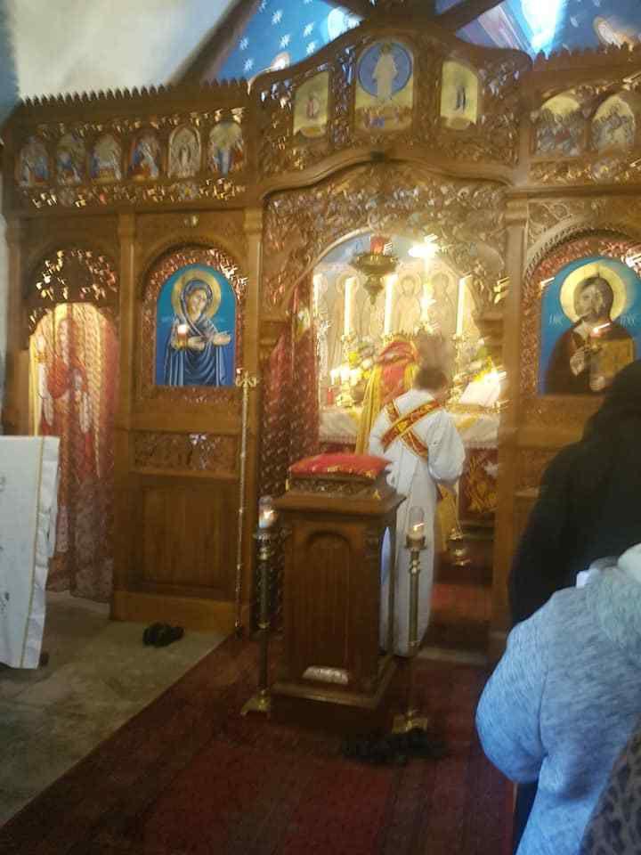 Pâques 2019, Quadisha Qurbana (Sainte Messe) du jour en l'église du Monastère Syro-Orthodoxe de la Bienheureuse Vierge Marie Mère de Miséricorde.