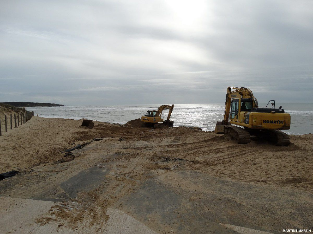 Adieu aux tétraèdes de la plage du Veillon