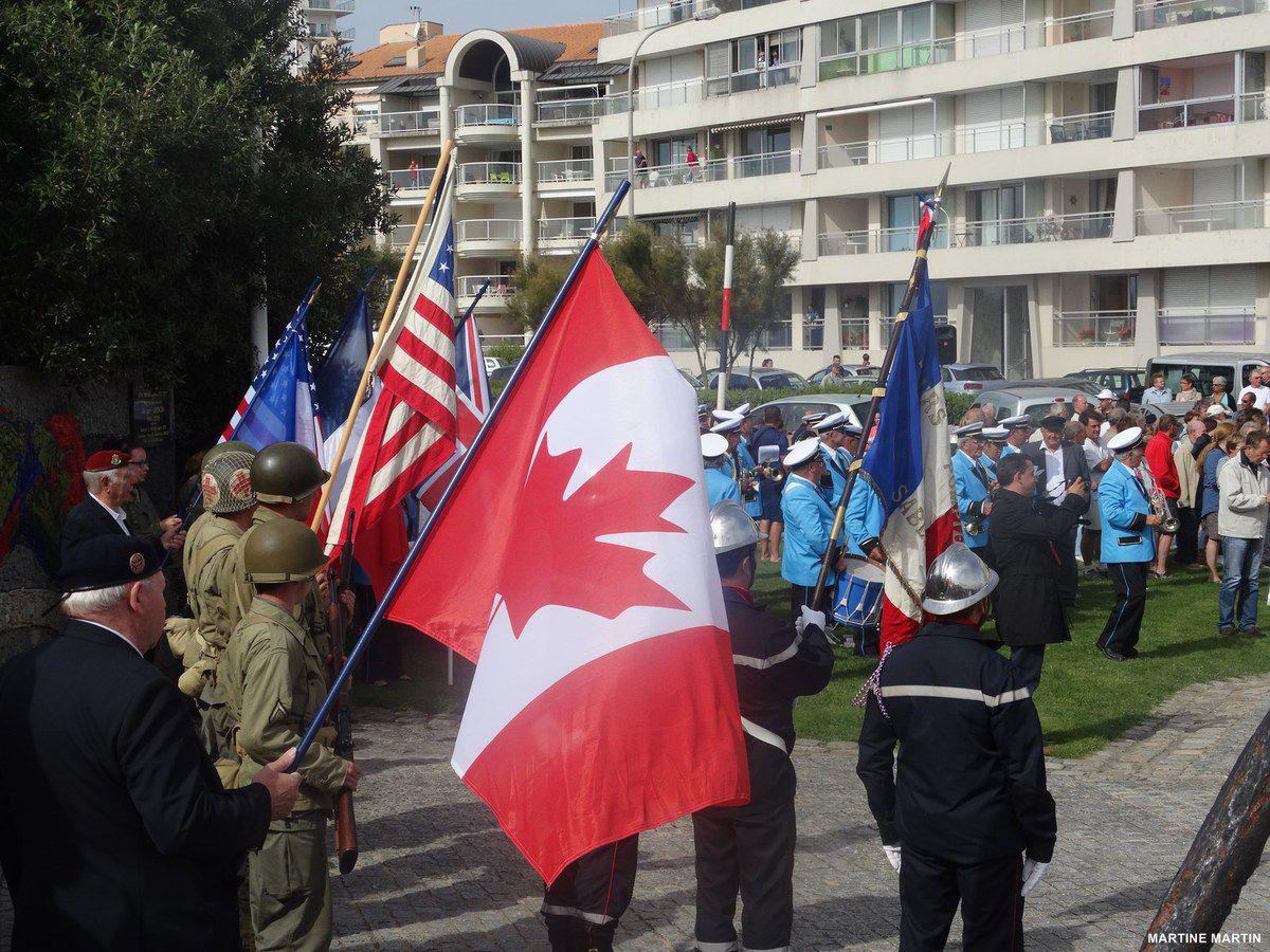 Commémoration 2014 de la libération des Sables : la cérémonie