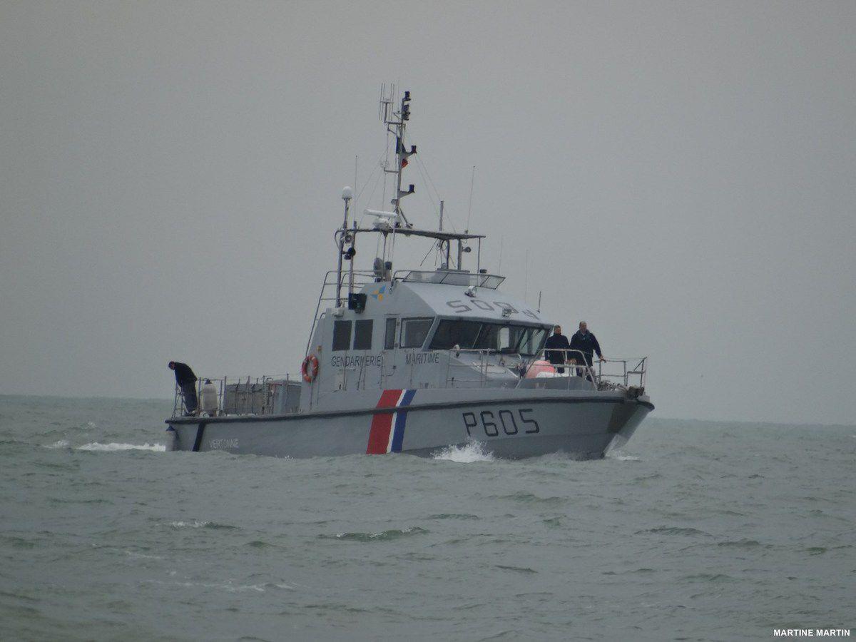 Le bateau de la gendarmerie maritime aux Sables d'Olonne