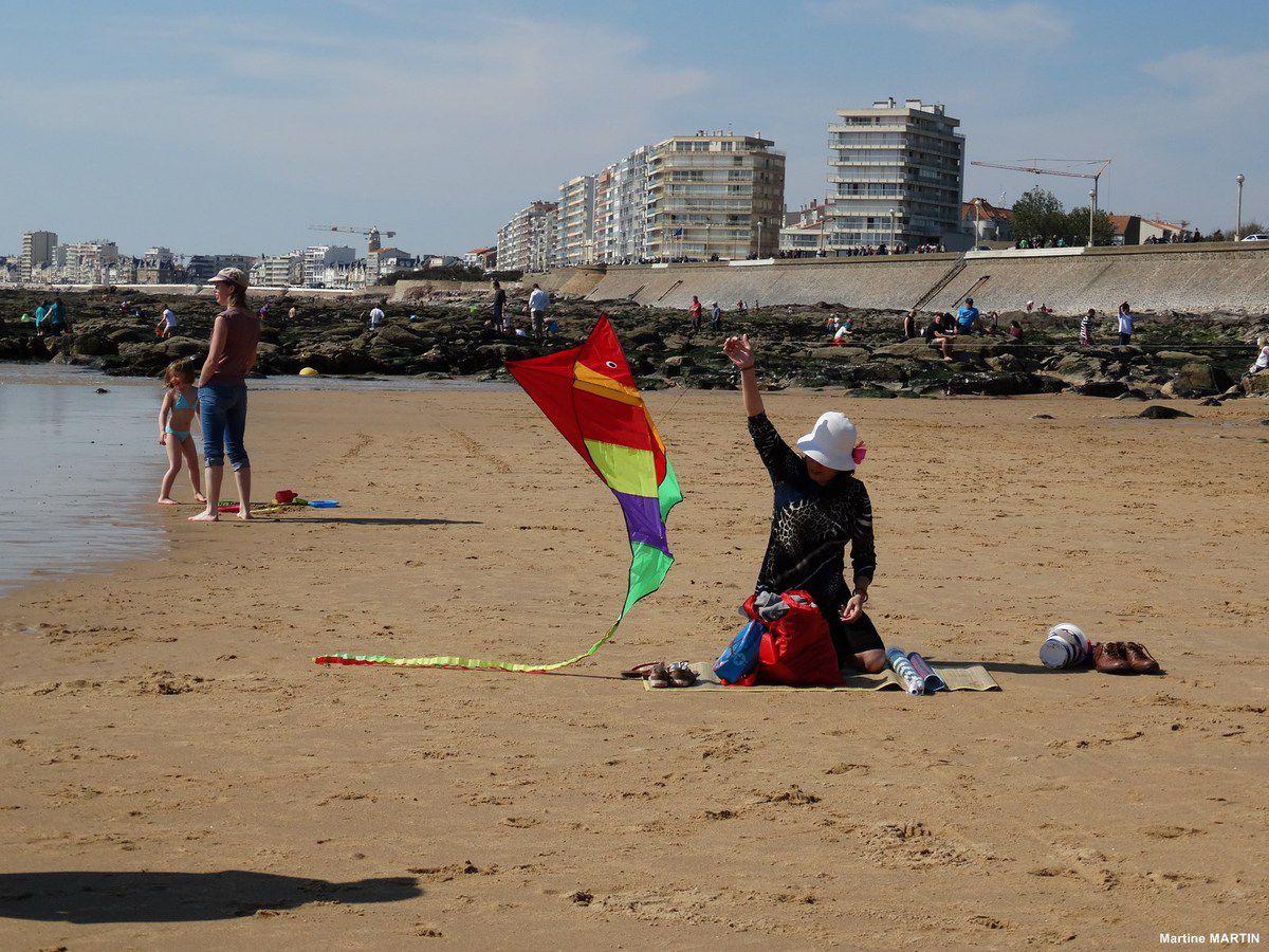 Cerf volant sur la plage du Tanchet