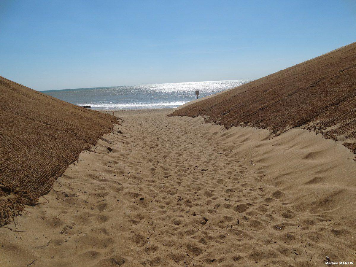 Nouvelle entrée pour la plage de Sauveterre (Olonne sur mer)