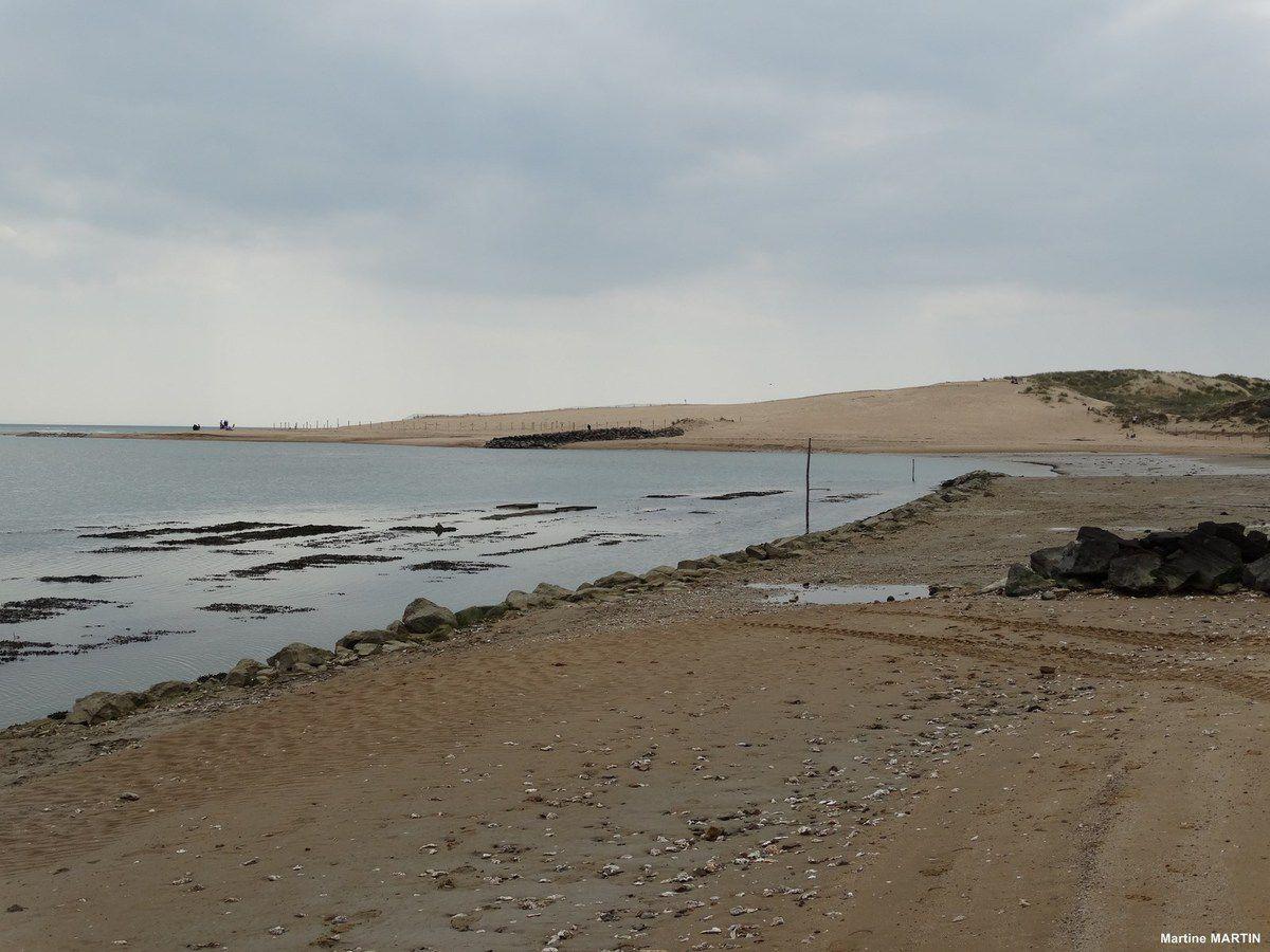 Travaux sur la plage du veillon à Talmont Saint-Hilaire - Vendée