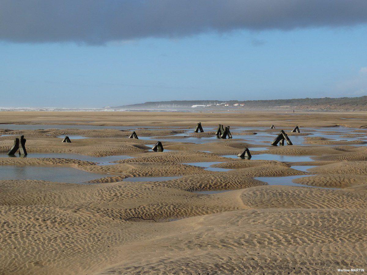 La plage du veillon après les tempêtes de Janvier