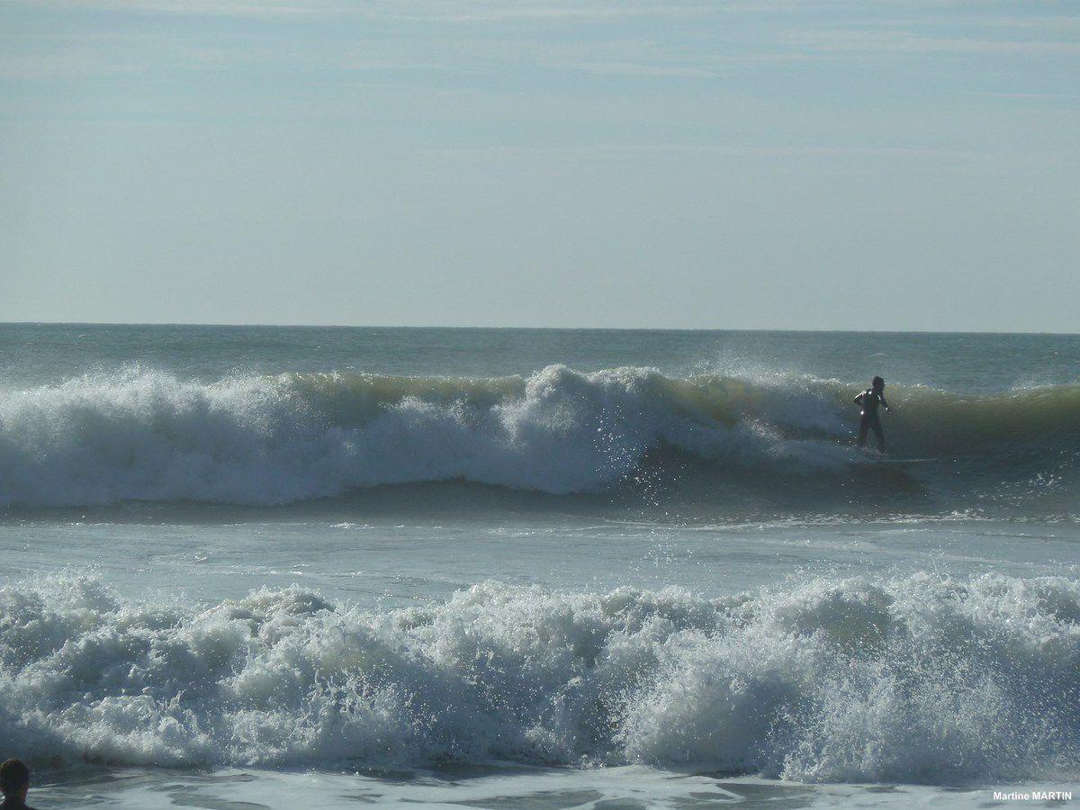 Surf sur la plage de Sauveterre à Olonne sur Mer (85)