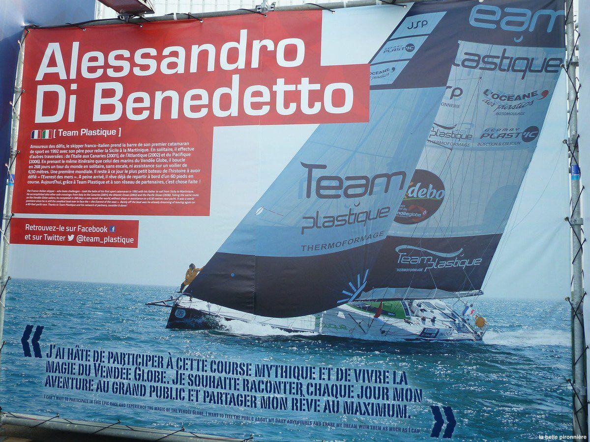 Alessandro di Benetto dernier skipper en course approche des Sables