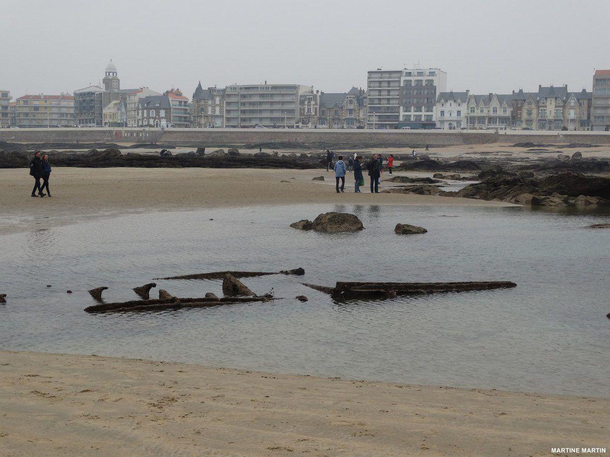 La marée basse du Siècle aux Sables d'Olonne