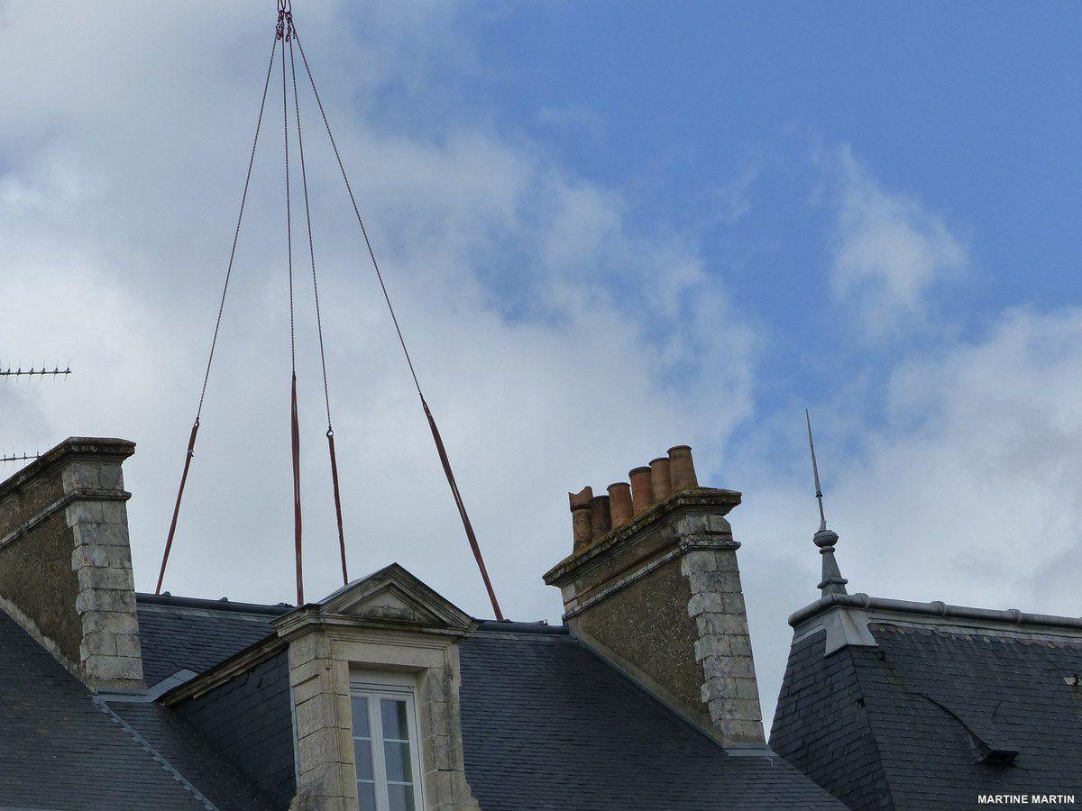 La piscine au dessus des toits à la Roche sur Yon