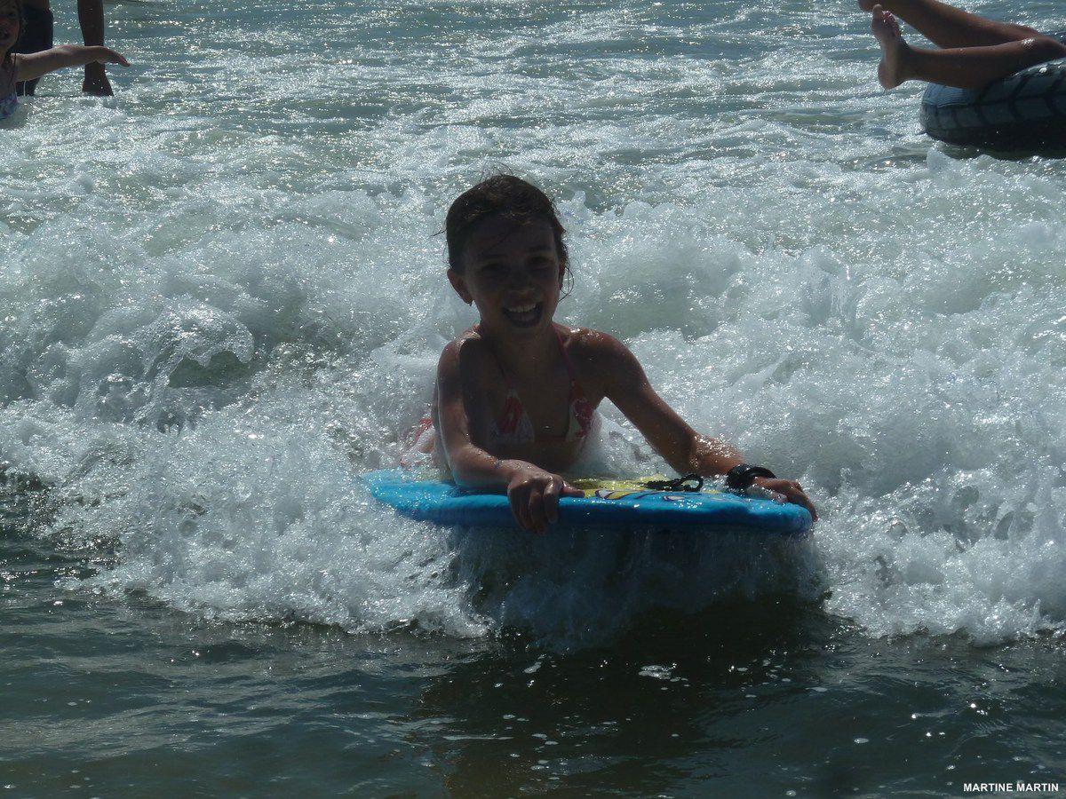 Début en bodyboard sur la plage du Tanchet