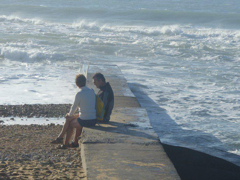 Promenade de Novembre sur la plage de Sauveterre