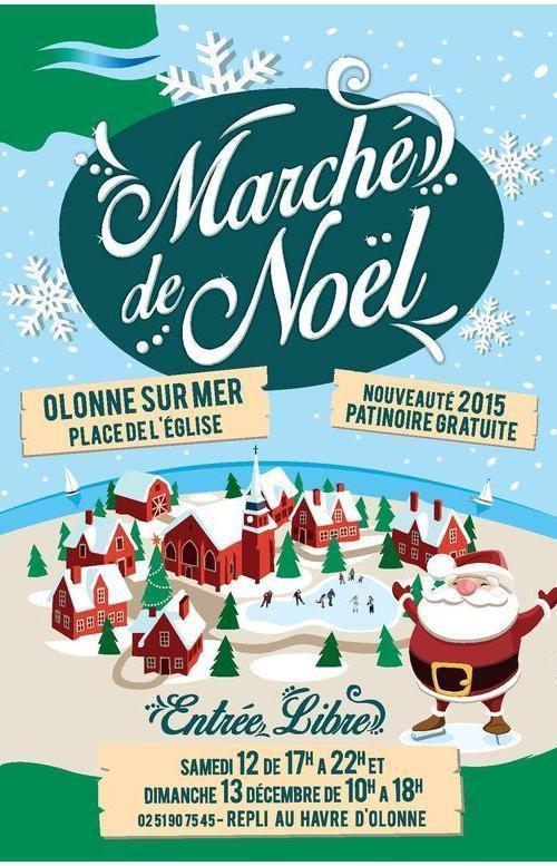 Marché de noël d'Olonne sur mer avec patinoire