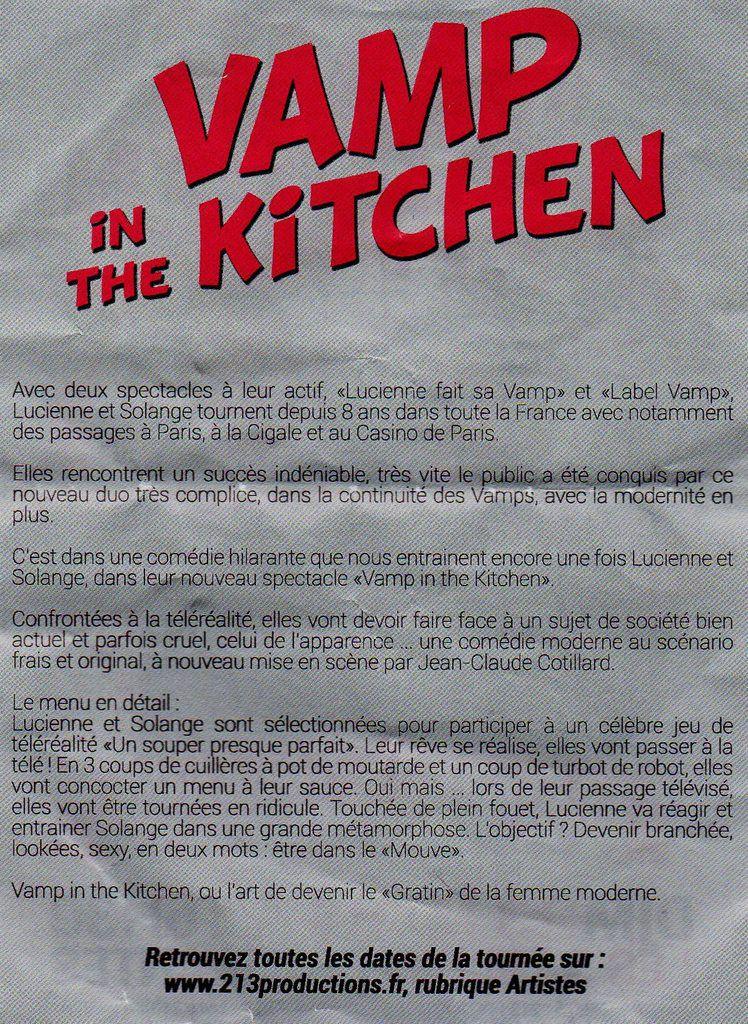 Vamps in the kitchen / Comédie aux Sables d'Olonne