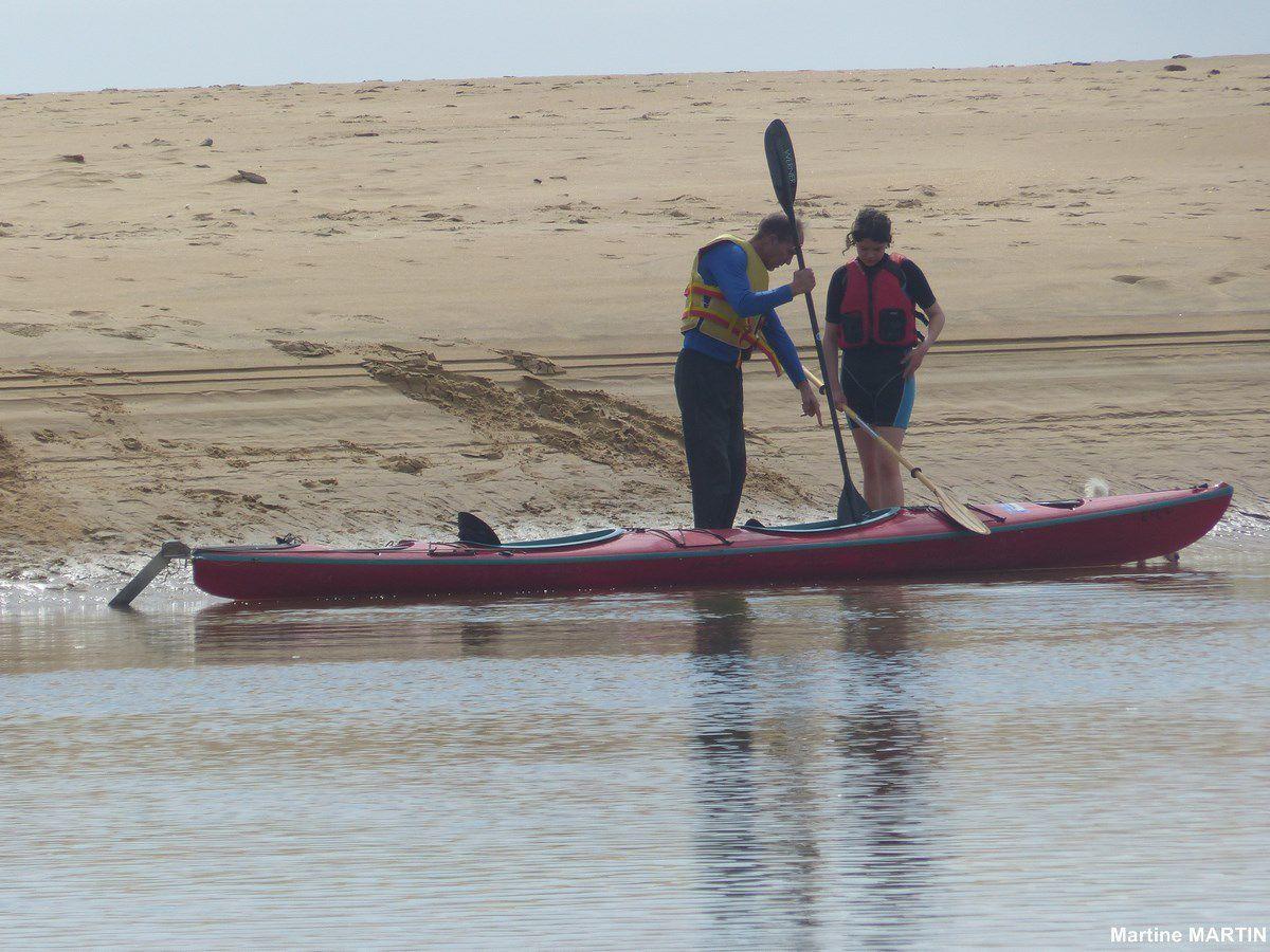 Kayak dans l'estuaire du Payré