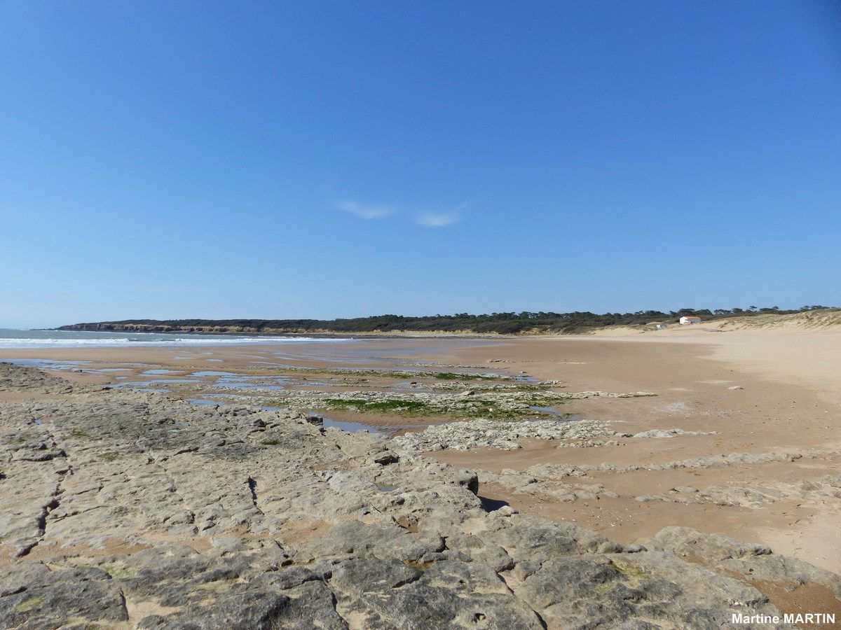 La plage de la mine à Jard sur Mer