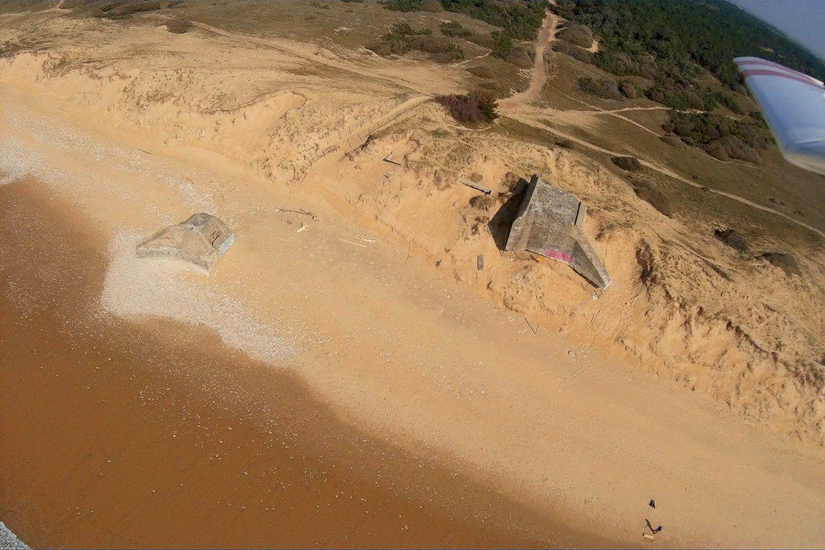 Vue aérienne des blockhauss de Sauveterre